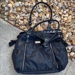 Carter's Black Diaper Bag W/ Changing Pad